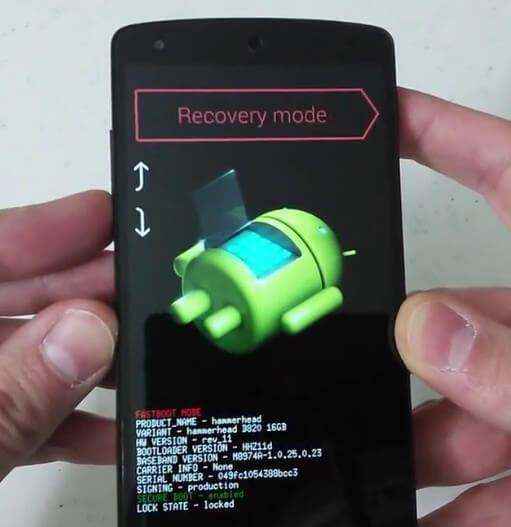 Tryb odzyskiwania Google Nexus