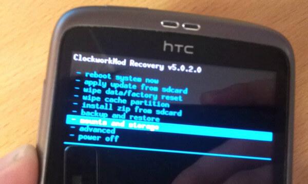 Tryb odzyskiwania HTC
