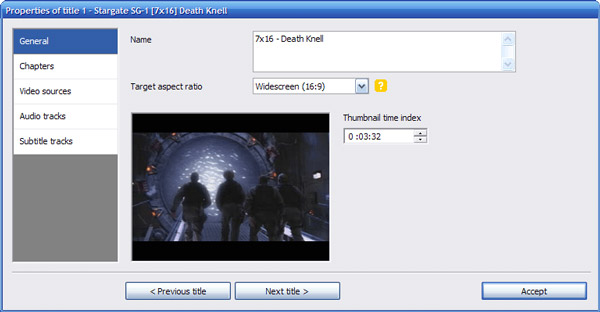Προσθέστε τον τίτλο με το κτύπημα DVD