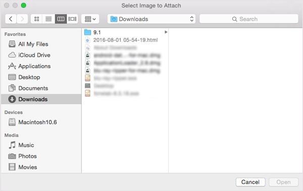 Carica il file nel masterizzatore ISO