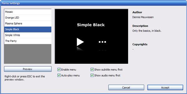 Ρυθμίσεις μενού της μετακίνησης DVD