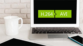 將H.264轉換為AVI