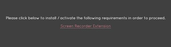 Estensione del registratore dello schermo di Chrome
