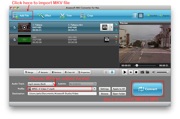 how to convert mkv to mp4 on mac. Black Bedroom Furniture Sets. Home Design Ideas