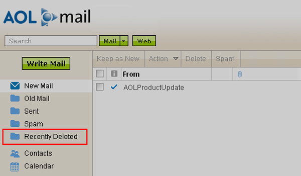 Recover Recently Deleted AOL Emails