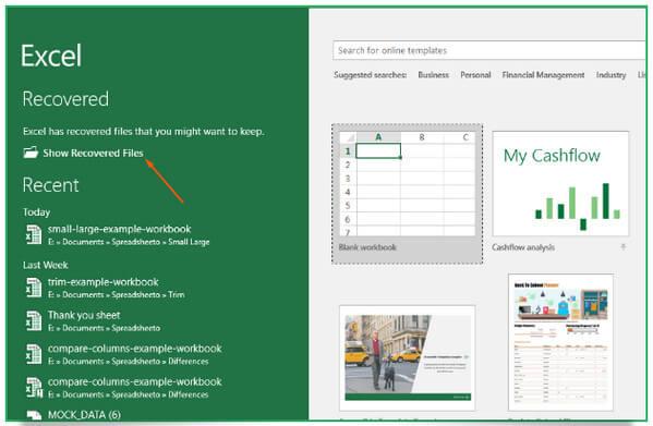Vyhledejte soubor Excel