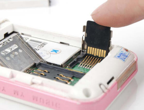 Fix SD card in the slot