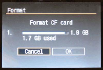 Sformatuj kartę SD w aparacie