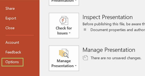 PowerPoint Options