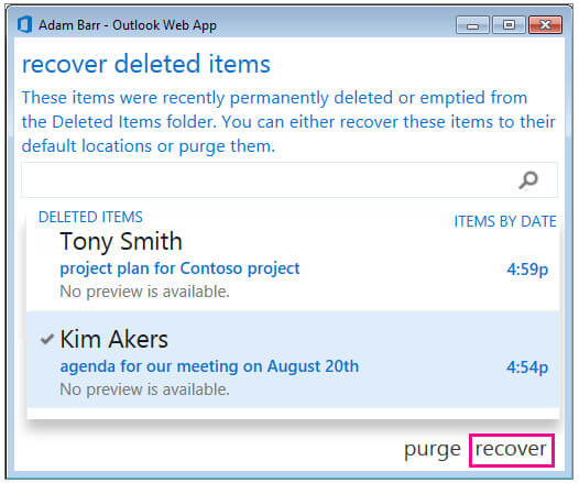 Recupera le email cancellate in Outlook