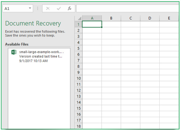 how to recover unsaved excel document