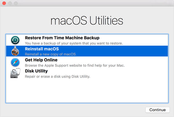Reinstallare MacOS