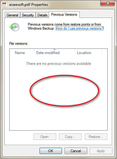 Ripristina file PDF