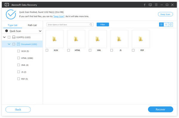 Scansione di file PDF