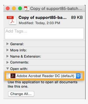 Imposta lettore PDF predefinito su Mac