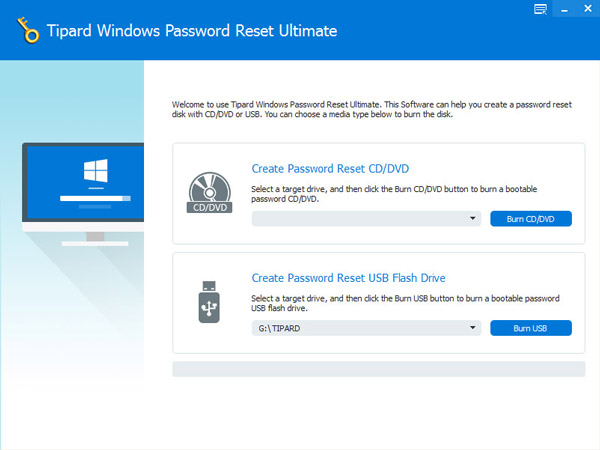 Tipard Windows Reimposta password