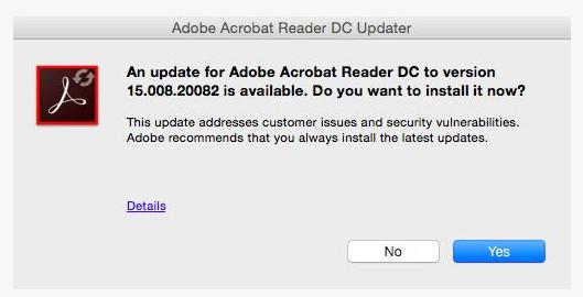 Aggiorna PDF Reader