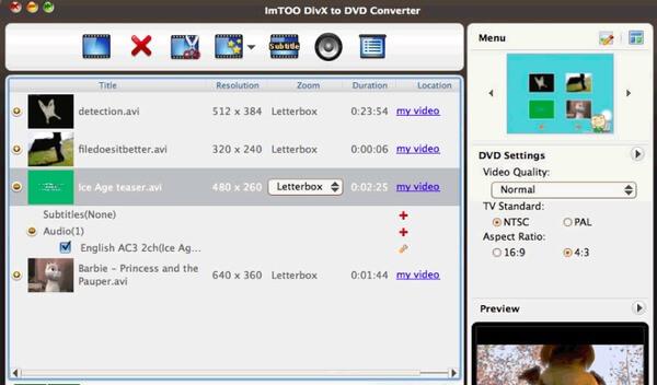 ImTOO DivX to DVD Converter για Mac