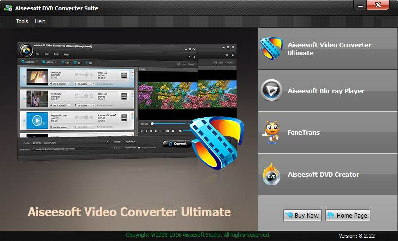 Aiseesoft DVD Converter Suite screenshot