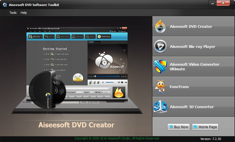 Aiseesoft DVD Software Toolkit Screen shot