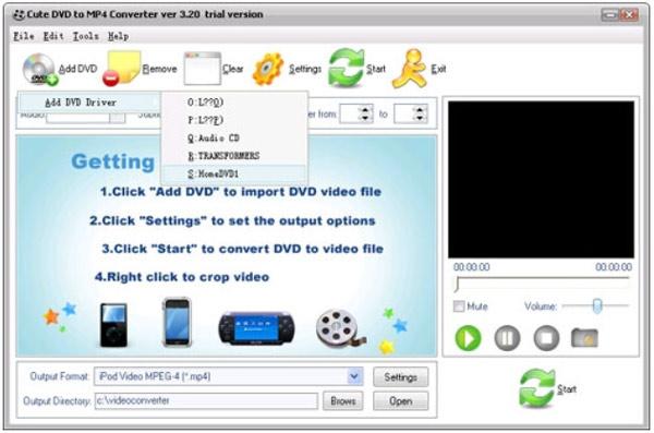 Χαριτωμένος μετατροπέας DVD σε FLV