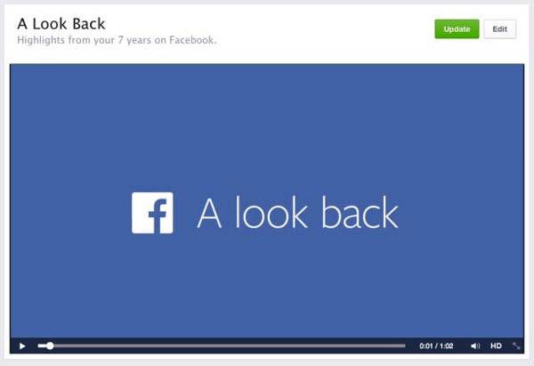 Modifica Facebook Guarda indietro video