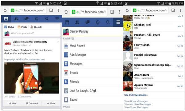 Trova e controlla Facebook Altri messaggi su Android