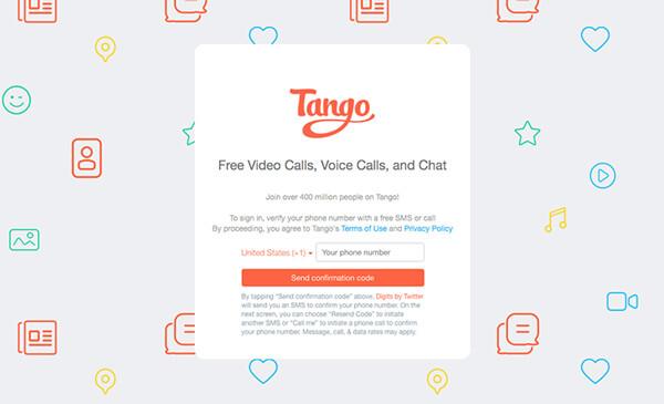 FaceTime voor pc - Tango