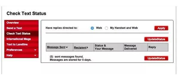 Zkontrolujte zprávy Verizon