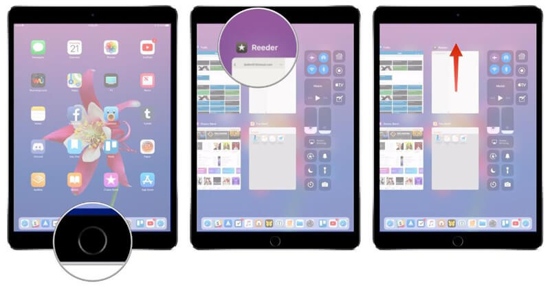 Chiudi le app in background per risolvere il touchscreen dell'iPad non funzionante