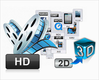 Convert SD/HD video to 3D video