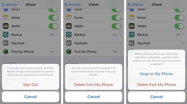how to delete icloud account from iphone how to delete icloud account 9859