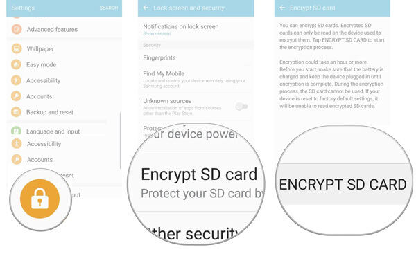 Encrypt SD Card Android