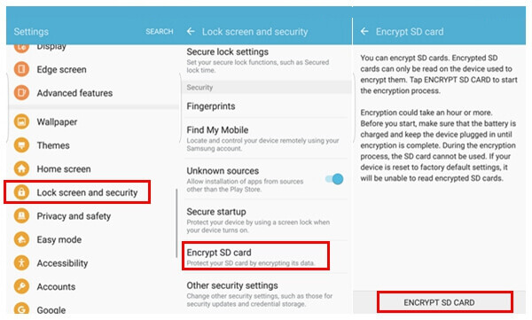 Encrypt SD Card on Android