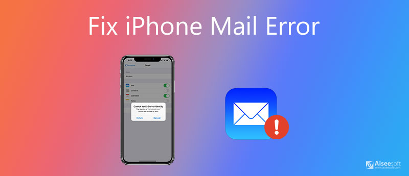 Correggi l'errore di posta di iPhone