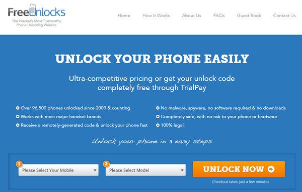 Free Unlock Codes for Cell Phone