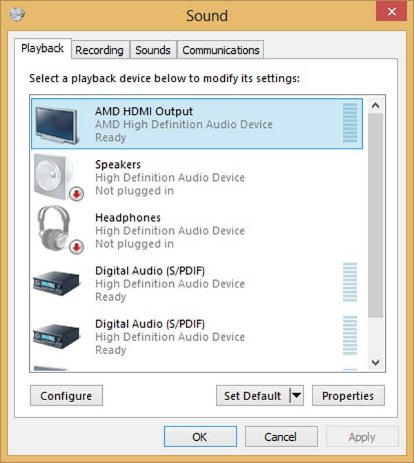 Έξοδος ήχου HDMI