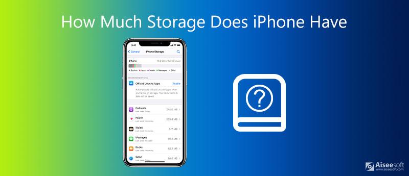 Πόση δόση αποθήκευσης έχει το iPhone