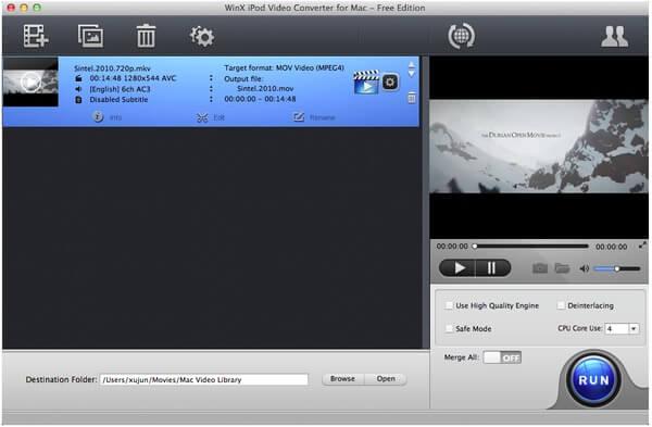 WinX iPod Video Converter per Mac