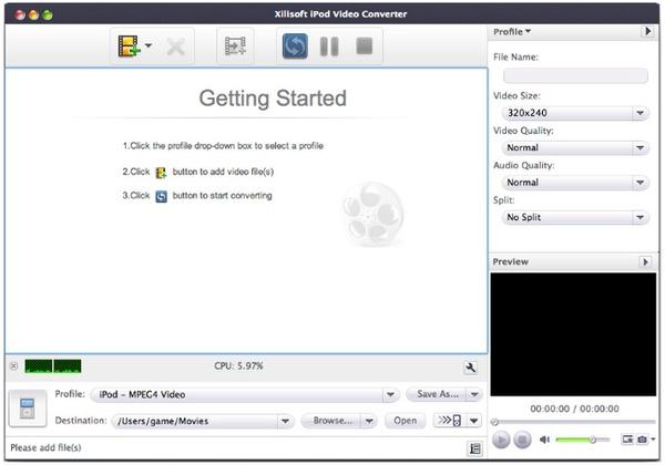 Xilisoft Video Converter per Mac