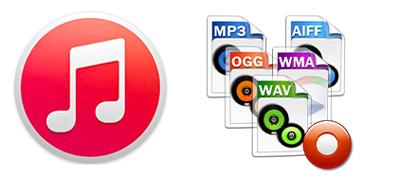 Obsługiwane formaty muzyczne w iTunes