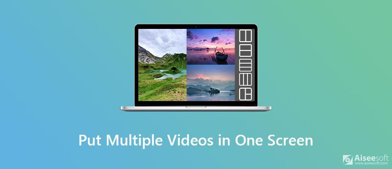 Zet meerdere video's op één scherm