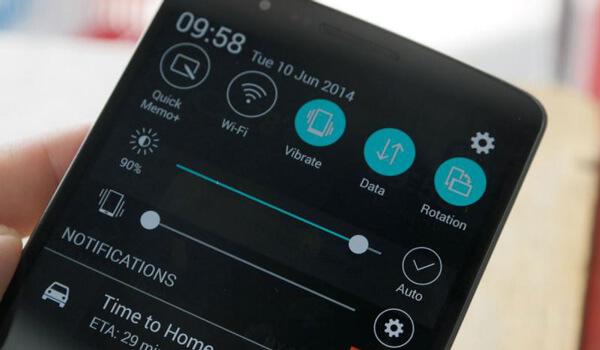 Schermata LG G3 con QMemo
