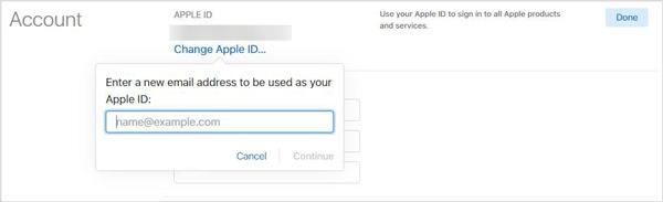 E-mailový účet iCloud