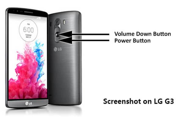 Στιγμιότυπο οθόνης LG G3 με πλήκτρα