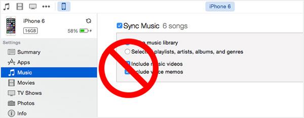 Zsynchronizowana muzyka nie będzie odtwarzana w iTunes