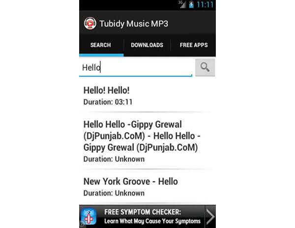 Pobieranie muzyki Tubidy MP3