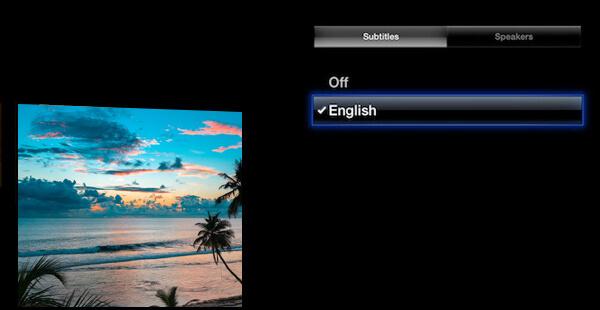 Disattiva i sottotitoli di Apple TV