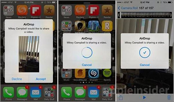 Trasferisci video da iPhone con AirDrop