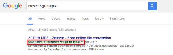 Μετατροπή 3GP σε MP3 στο Zamzar